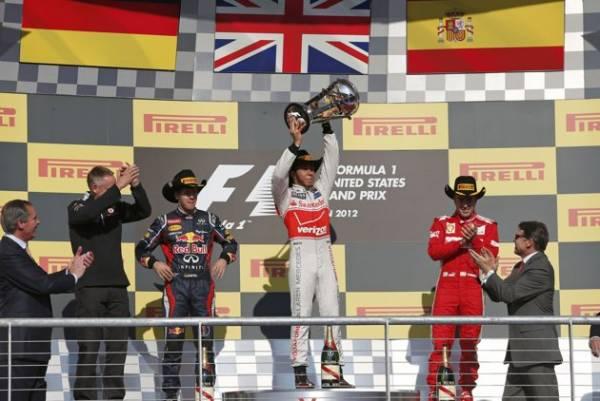 F1 podio usa