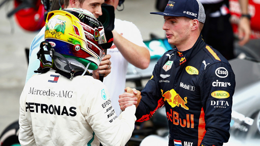 lewis - max  all'arrivo