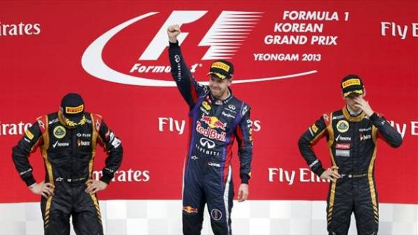 podio gp di korea f1